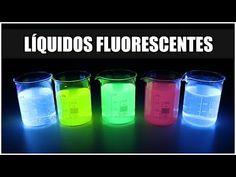 ¿Cómo hacer un Líquido Fluorescente en CASA? | La Fluorescencia ultravioleta - YouTube Shot Glass, Instagram, Tableware, Youtube, Vases, 3d Wall, Resin Table, Wood Slices, How To Make