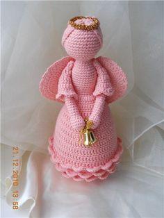 Yarn Hair Tutorial Curls pattern by Veronica McRae Crochet Snowflake Pattern, Doily Patterns, Crochet Patterns, Crochet Gifts, Crochet Dolls, Crochet Dragon, Crochet Angels, Angel Crafts, Crochet Ornaments
