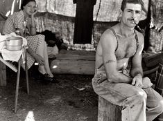 Ridiculously photogenic unemployed man from the 1920s. New hero.
