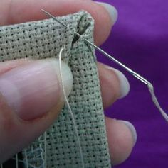 How to finish cross stitched ornaments (ornies) - nice level of detail