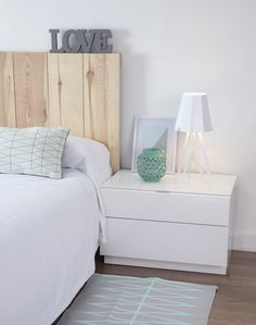 Malm bed frame high w 4 storage boxes white stained oak - Habitaciones nordicas ...