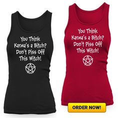 It's never wise to Piss Off a Witch! CLICK HERE TO ORDER => https://fabrily.com/pissedoffwitch?s=2&c=1  (Fabrily ship worldwide!)  There are more styles and colours to choose from. Prices start from £13 and sizes go up to 5XL #witch #wicca #witchcraft #karma