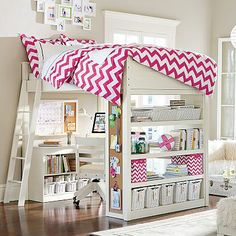 Sleep + Study® Loft  #pbteen  Darcy would like this type of bed.