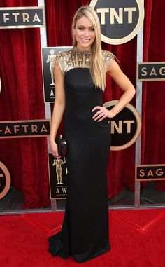 Katrina Bowden in Badgley Mischka from 2014 SAG Awards: Red Carpet Arrivals | E! Online