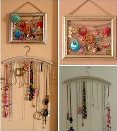 DIY holder for earrings and neclaces