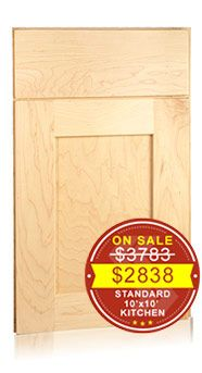 Shaker Maple Natural - Shop Now! Discount Kitchen Cabinets