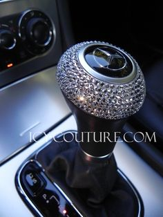 Bedazzled gear shift.