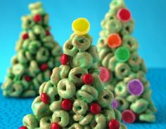 Cheerios Christmas Trees