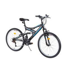 """Juniorský celoodpružený bicykel Kreativ 2441 24"""" - model 2017 - Black"""