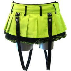 Evil Chor Mini Neon Green - Alternative, Gothic, Emo Clothing ❤ liked on Polyvore