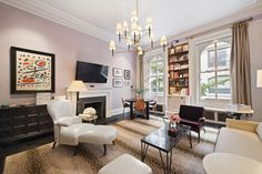 Behold, New York City's Most Beautiful Homes of 2014 - Curbed NY Upper West Side Apartment, New York Neighborhoods, Nyc Real Estate, Greenwich Village, Custom Cabinetry, One Bedroom, Home Values, Living Area, Living Rooms