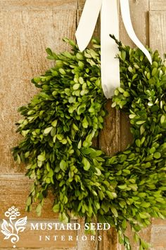 d.i.y. boxwood wreath; for dressing up the house indoors & outdoors in-between seasons or year round.