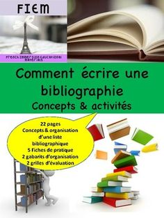 "Boost your students' writing skills!... and teach them how to write ""Une bibliographie""! Ready to print and USE as a TEACHING PACKAGE and as an ASSESSMENT TOOL as you receive 2 different rubrics in this resource! CHECK THE PREVIEW FILE! Don't have time to prep for Writing Skills, Have Time, Assessment, Prepping, Students, French, Teaching, Check, Natural Disasters"