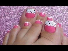 UNHAS DECORADAS EM NUDE PARA OS PÉS - YouTube Gold Toe Nails, Cute Toe Nails, Toe Nail Art, Bright Nail Designs, Pedicure Designs, Toe Nail Designs, Nail Art Pieds, Manicure Y Pedicure, Pedicures