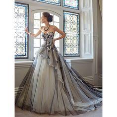 Sophia Tolli Wedding Dresses Style Gena Y21436 ($1,573) ❤ liked on Polyvore featuring dresses, wedding dresses, long dresses, gowns and wedding