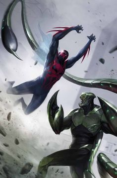 Spider-Man 2099 v Scorpion by Francesco Mattina! (Marvel comics)