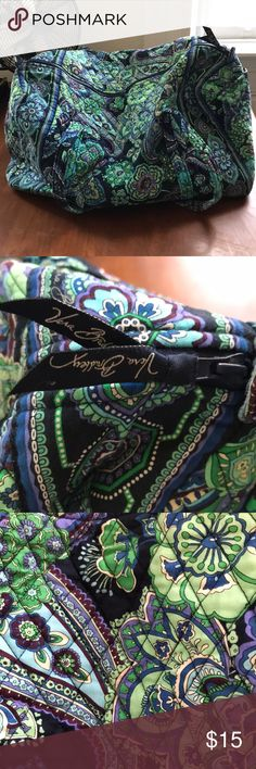 Vera Bradley Large Duffel Bag This was my weekend trip Bag for all of college!  Fits a ton of clothes, is light weight, and easy to roll up and store when not in use! Vera Bradley Bags Travel Bags
