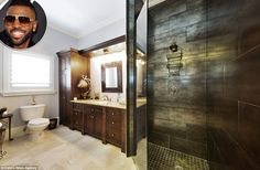 Photos show the luxurious interiors of celebrity bathrooms #dailymail