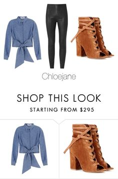"""""""//"""" by chloeeej ❤ liked on Polyvore featuring MSGM and Gianvito Rossi"""