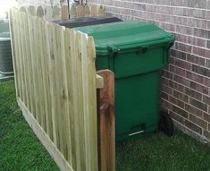 Ryobi Nation - fence on the side of the house to hide trash cans