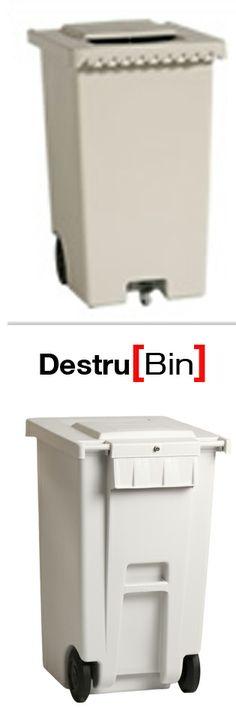 Destru[Bin] nuevo modelo de contenedor diseñado específicamente para la destruccción segura de documentación sensible y confidencial