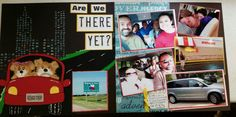 Road Trip scrapbook layout, are we there yet?  Scrapbook layout,  Texas trip