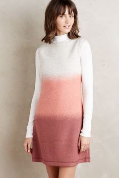 9264061f9b380 New Anthropologie Ombre Sweater Shift Sz L Size Large NIP by Hoss Intropia