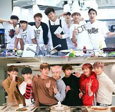 BTS cooking then and now