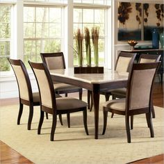 Have To Have Itsteve Silver 7 Piece Marseille Marble Top Dining Enchanting Steve Silver Dining Room Set 2018