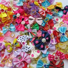 Chenkou Craft Random of New Dog Hair Bow With Rubber Band Rhinestone Pet Grooming Products Mix Colors Varies Patterns Pet Hair Bows Dog Accessories. perfect for your pet hair groomings for any accasions. Dog Hair Bows, Dog Bows, Boxer Dog Tattoo, Super Cute Dogs, Hair Bow Supplies, Pregnant Dog, Yorkie Dogs, Puppies, Pets For Sale