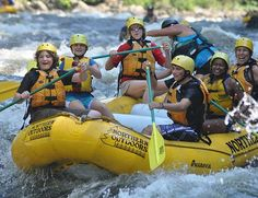 When Cape Codders go on vacation, here white water rafting in Maine.