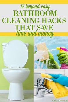 I'm so glad I found these amazing bathroom cleaning hacks that save time and money! These hacks are SO easy and will make cleaning the bathroom fast! Now I have the best way to keep my bathrooms clean and organized. Deep Cleaning Tips, House Cleaning Tips, Cleaning Solutions, Spring Cleaning, Putz Hacks, Bathroom Cleaning Hacks, Toilet Cleaning, Bathroom Organization, Organization Ideas