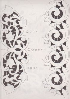 Discover thousands of images about Lene Richelieu e Bainha Aberta: Richelieu Realce Cutwork Embroidery, Machine Embroidery Patterns, White Embroidery, Hand Embroidery Designs, Vintage Embroidery, Embroidery Stitches, Lace Painting, Drawn Thread, Lacemaking