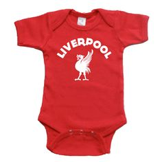 Red Liverpool Baby Onesie