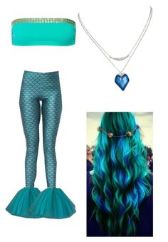 """Diy mermaid costume"" by unicorn-melody ❤ liked on Polyvore featuring I.D. SARRIERI, Alexis Bittar, women's clothing, women, female, woman, misses and juniors"