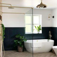 Bathroom With Shower And Bath, New Bathroom Ideas, Bathroom Inspiration, Master Bathroom Remodel Ideas, Small Bathroom Showers, Small Shower Room, Master Bath Shower, Bathroom Inspo, Master Bathroom Layout