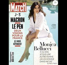 Monica Bellucci en couverture de Paris Match, N°3442.