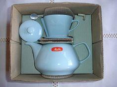 Melitta Minden Tee-Filka (Filter und Kanne) 401 bleu neu in OVP