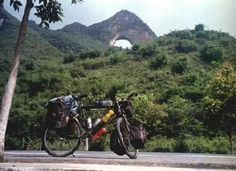 My bicycle (Jim) at Moonhill in Yangshuo, China