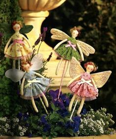 Fairy dolls. FREE Pattern for doll, no clothes pattern. No instructions that I could find.