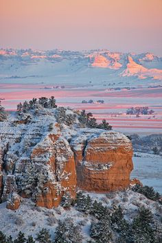 Sunrise during a beautiful Nebraska winter.I want to go see this place one day. Please check out my website Thanks.  www.photopix.co.nz