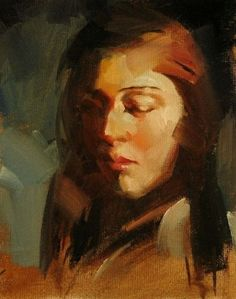 Portrait+Study+1,+painting+by+artist+Qiang+Huang