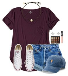 """""""~simplicity~"""" by victoriaann34 ❤ liked on Polyvore featuring Hollister Co., Converse, SO, Morphe, NARS Cosmetics and Jennifer Meyer Jewelry"""