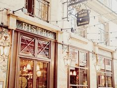 Items similar to Paris Brasserie - x cream-colored, pastel white and brown colors on Etsy Bistro Restaurant, Cafe Bistro, Beautiful Paris, Beautiful World, Tour Eiffel, Vacation Trips, Vacation Spots, Monuments, Opening A Coffee Shop