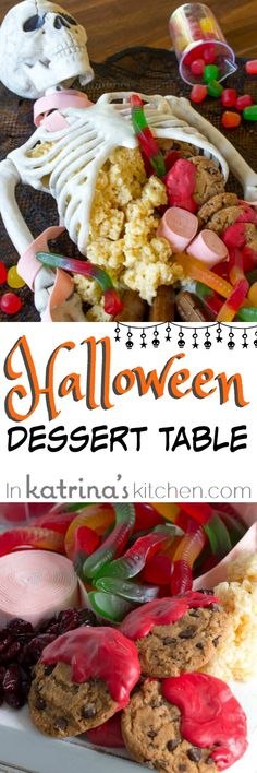 Everyone will LOVE this Halloween Dessert Table- spooky, quick, and easy Halloween Centerpiece
