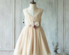 2016 Grey Junior Bridesmaid Dress Light Gray Mesh by RenzRags