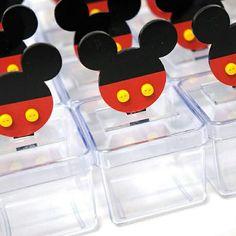 Caixinhas para guloseimas... personalizadas com mini totens fofos do Mickey