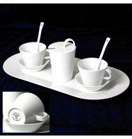 Bohemia White, Přátelská souprava pro 2 osoby, design Pelcl, Český porcelán a.s.