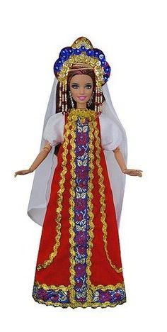 Русские наряды для кукол своими руками