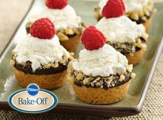 Mini Ice Cream Cookie Cups - 2010 Pillsbury Bake-Off Grand Prize ...